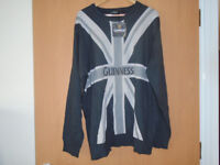 GUINNESS UNION JACK GREY JUMPER, BRAND NEW with LABEL, 3XL PLUS OTHER GENTS CLOTHES FOR SALE
