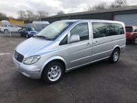 2007/07 Mercedes-Benz Vito 109 CDi Minibus, Dualiner, 6 speed Manual, removable rear seats
