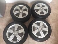 Seat Ibiza Alloys / Good Tyres 4-5MM 5 stud 195/55R15