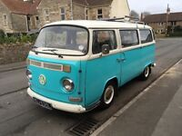 VW Volkswagen T2 Type 2 Bay Window Campervan 1972 Tax Exempt