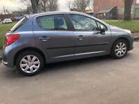 Peugeot 207 s vti 1.4 petrol 58 plate
