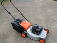 "Husqvarna/Flymo 18"" petrol lawnmower briggs and stratton engine good runner"