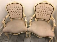 Two French style chairs