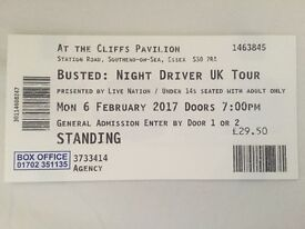 X1 STANDING BUSTED TICKET, CLIFFS PAVILION SOUTHEND
