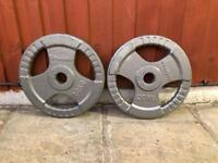 2x20kg TriGrip Olympic Weights Plates. •Can Deliver•