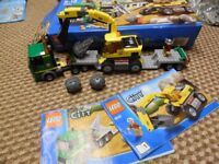 Lego Digger - Excavator with Box and Instructions