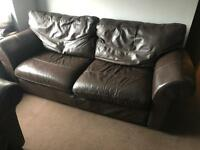 Free brown leather suite