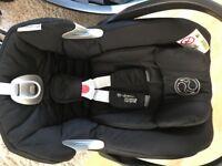 Cybex Aton Q Car Seat, Isofix base, Pushchair adaptors and Backseat baby mirror