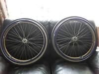 Wheel chair wheels