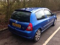 Renault Clio 172 Cup Car 53 plate in great condition - priced to sell 1800