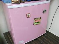 Pink Table Top Fridge