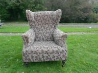 Big Comfy Wing Back Armchair