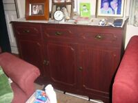 Darkwood dresser and sideboard