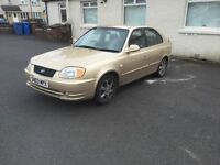BARGAIN 2003 HYUNDAI ACCENT LONG MOT SERVICE HISTORY PX WELCOME £200