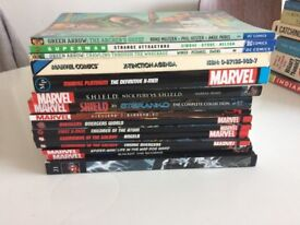 27 GRAPHIC NOVELS, POSTERS, SOFT TOYS ETC . MARVEL/DC