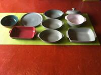 Selection of Denby Regency Green Kitchenware