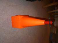 Brand new never used 20x 6 inch Cones with carry spindle - ideal for football practice etc