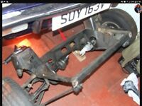 Real good condition front and rear subframes for mark 1 Mini 350
