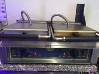 DOUBLE PANINI / CONTACT GRILL. Sandwich Press ROLLER GRILL