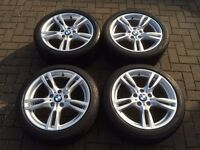 """BRAND NEW UNUSED BMW 3/4 Series 18"""" M star-spoke style 400M, M Sport Alloy Wheels and Tyres."""
