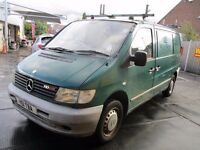 01Y MERCEDES VITO 2.1 110 CDI GREEN DIESEL VAN PLYLINED SHELFS RHINO ROOF BARS FULL MOT !!! PX SWAP