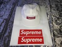 Supreme White D Ring Camp Cap