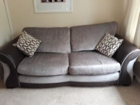 3 seat sofa and swival chair combo