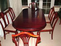 Mahogany extending dining table