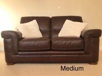 Sofa - full leather, Italian 2 seater by Bardi
