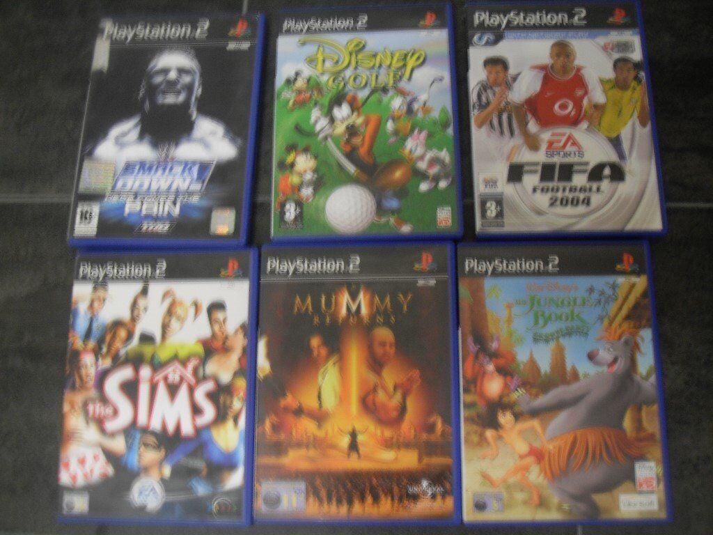 playstation 2 games. x 6