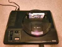 Sega megadrive with over 1000 games
