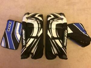 Road Warrior/TPS Ball or Street Hockey Goalie Pads, Catcher Blocker Ages 8 to 14