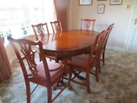 Mahogany dining table, chairs and sideboard in very good condition REDUCED in price