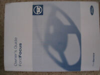 Genuine Ford Focus MK2 owners guide manual