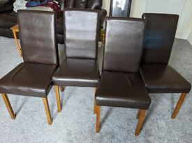 6 Brown Dining Room Chairs
