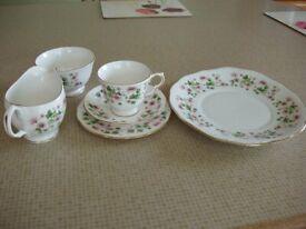 Queen Anne English Bone China Tea Set (new in box)