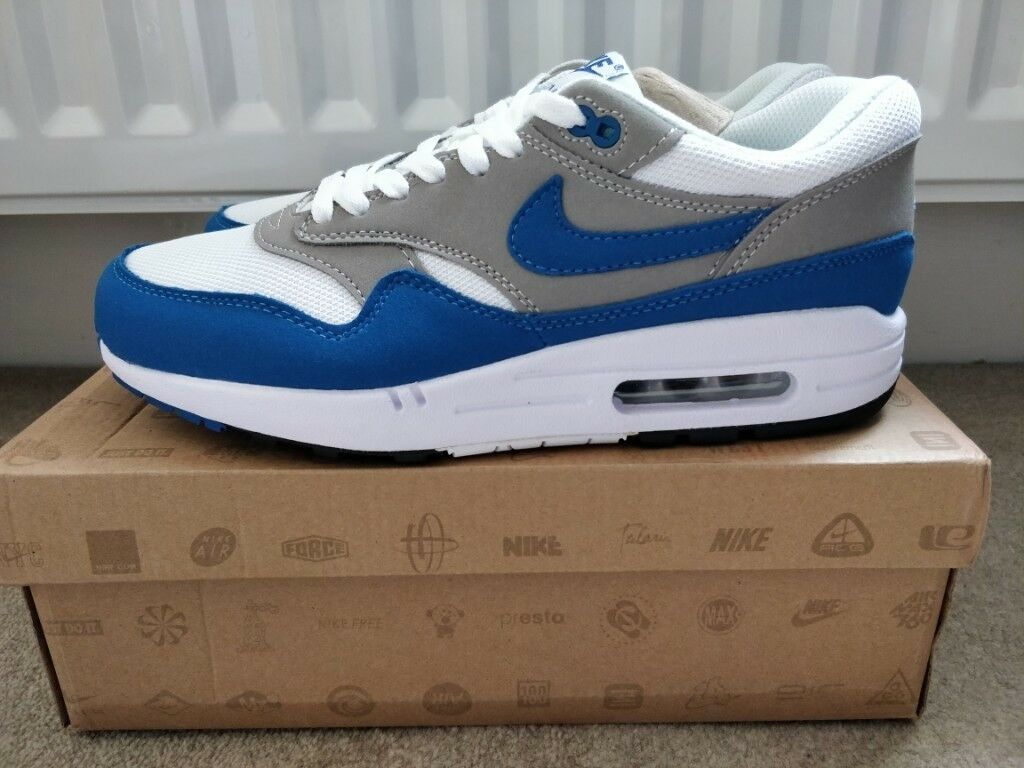 nike air max blue white uk 8.5