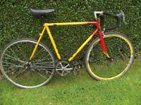 Vintage Fixed Wheel Road Racing Bike