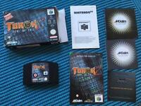 Turok 2 N64 game, boxed with manual