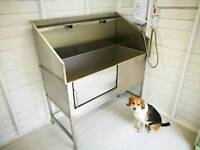 Dog grooming bath (stainless steel)