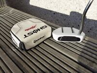Taylor Made Ghost Manta Putter. 35 inches long, with headcover