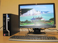 Acer Tower setup, Dual 3.20ghz x 2. 4gb ram, 19 inch widescreen Lcd, Win, can deliver