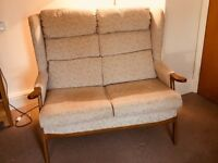 2 Seater Sofa & Armchair with foot stool
