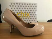 Ladies UK size 5 patent stiletto shoes - worn once