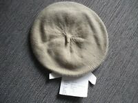 New ladies camel woollen beret with angora
