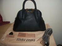 AUTH MIU MIU BY PRADA *BEAUTIFUL LEATHER BAG MEDIUM SIZE