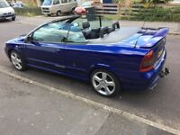 PRICE DROP! Vauxhall Astra, 2005 (55) Blue Convertible, Manual Petrol, 34,500 miles in Wimborne