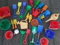 Sandpit and water toys