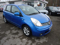 2008 NISSAN NOTE ACENTA 1.4 PETROL 79K MILEAGE GOOD CONDITION CAR NATIONWIDE WARRANTY IS AVAILABLE