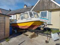 18 ft pilot dory Wilson flyer with 90hp mariner engine